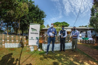 Grupo Sarabia dona 5.000 litros de alcohol en gel a la Décima Región Sanitaria