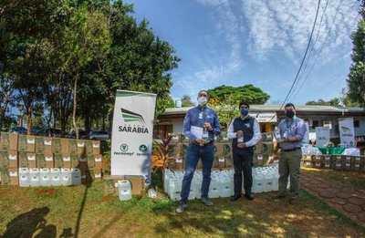 Grupo Sarabia dona 5000 litros de alcohol en gel a salud