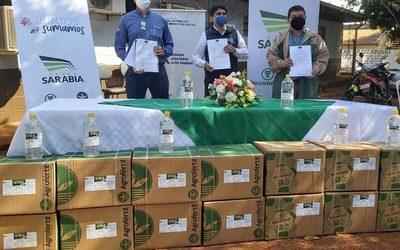 Donan 5.000 litros de alcohol en gel a la Décima Región Sanitaria