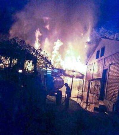 Incendio en casa de retiro