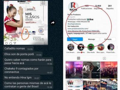 """Denuncian contratación de productora del Brasil para el Live """"Mis 15 años CONCERT"""" de Jazmín del Paraguay"""