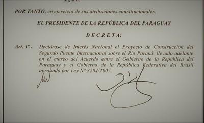 """Gobierno LLAMATIVAMENTE """"DECLARA"""" ahora de interés nacional obra del segundo puente"""