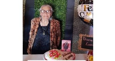Nelson Haedo saludó a su abuelita por sus 95 años