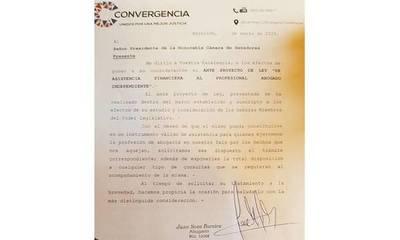 Presentan ante proyecto de ley para asistencia financiera a abogados independientes – Prensa 5
