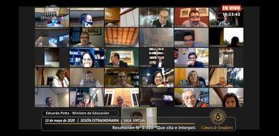 Mazzoleni recomienda al Senado seguir con las sesiones virtuales