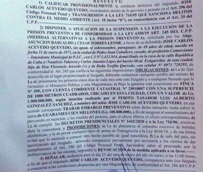 El Poder Judicial dejó un mensaje peligroso; Juez Areco revocó la Prisión Preventiva de Intendente solicitada por la fiscalía