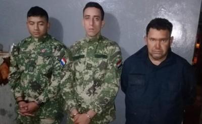 Dos militares y un falso policía detenidos por robo de carga de soja