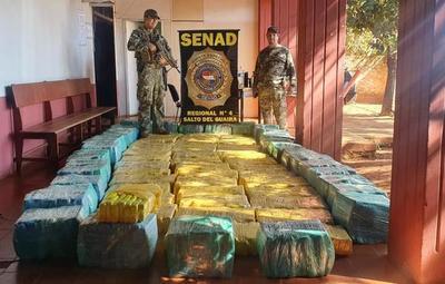 Senad incauta marihuana en reserva de Canindeyú