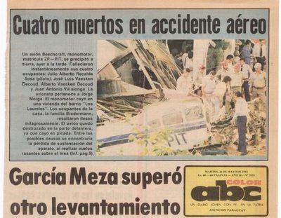 A 39 años de la tragedia y el milagro del avión que se estrelló en Los Laureles