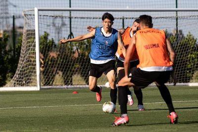 Santander realizó fútbol en la segunda semana de entrenamientos grupales