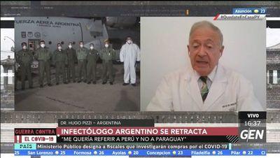 """""""Ha sido una penosa equivocación, era Perú no Paraguay"""", aclara médico argentino"""