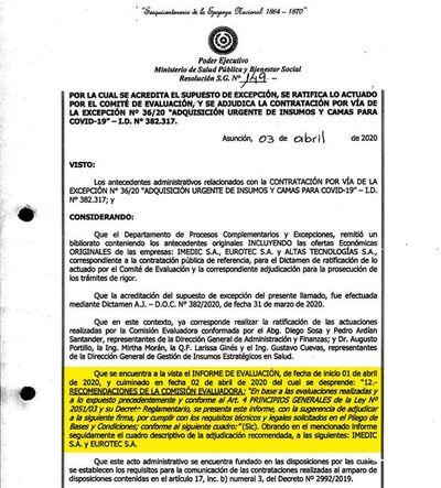 Comité evaluador no fue conformado oficialmente en las compras de Salud
