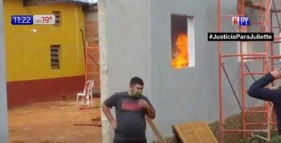 Investigan a 41 personas por quema de colchones en albergue