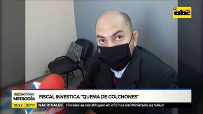 Fiscalía investiga quema de colchones en Caaguazú
