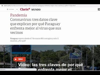 PRENSA ARGENTINA DESTACA QUE PARAGUAY ENFRENTA AL COVID-19 MEJOR QUE SUS VECINOS
