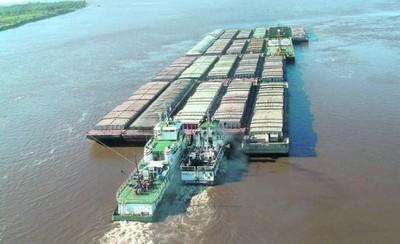 Exportaciones de oleaginosas, aliviadas tras 'salto' del nivel del río Paraná