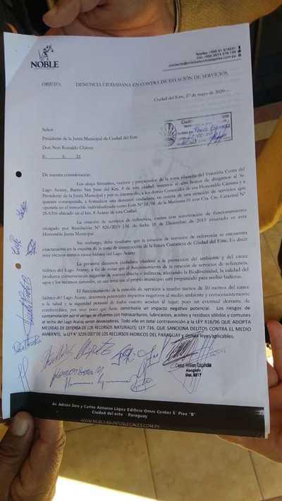 Denuncian habilitación irregular de surtidor en inmediaciones de la costanera de CDE