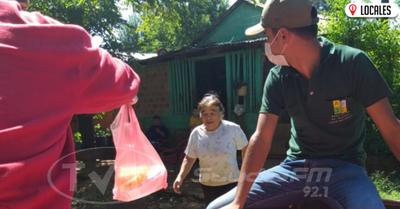 Asociación de jóvenes de Cambyretá asisten a familias vulnerables