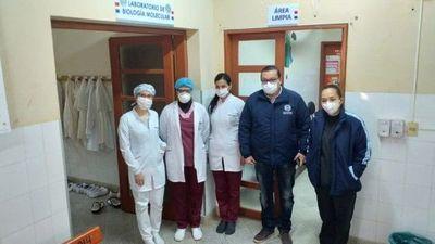Procesan muestras de Covid-19 en laboratorio de Coronel Oviedo