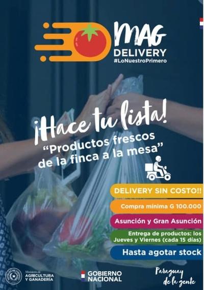 MAG realizará delivery de productores organizados desde este jueves