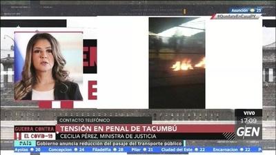 HOY / Internos de la penitenciaria de Tacumbú exigen la habilitación de visitas, la ministra de Justicia, Cecilia Pérez, manifiesta que aún no se terminó el protocolo