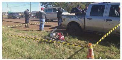 Motociclista fallece atropellado por una camioneta en Pedro Juan Caballero