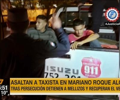 Mellizos asaltan a un taxista en Mariano Roque Alonso