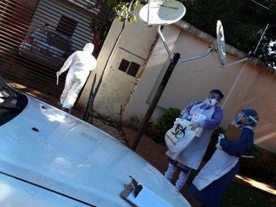 Coronavirus: Ministerio de Salud interviene vivienda en barrio Mariscal Estigarribia