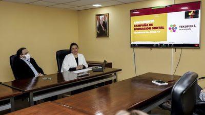 Más de 165.000 familias de Tekoporã recibirán acompañamiento digital frente al coronavirus
