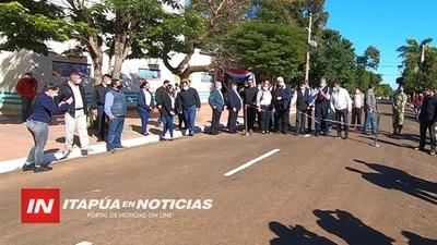 INAUGURAN 46 CUADRAS DE ASFALTADO EN CASCO URBANO DE CNEL. BOGADO