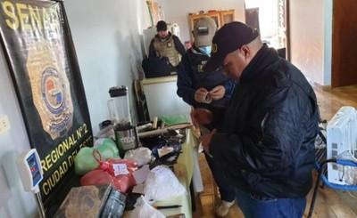 Laboratorio de cocaína es desmantelado tras allanamiento en CDE