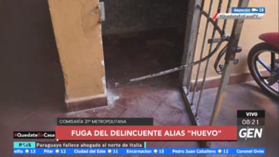 """HOY / Ángel Adrián Sánchez alias """"Huevo"""", se fugó de la Comisaría 21 Metropolitana en la madrugada de ayer"""