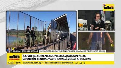 Asunción, Central y Alto Paraná, zonas donde aumentaron casos sin nexo