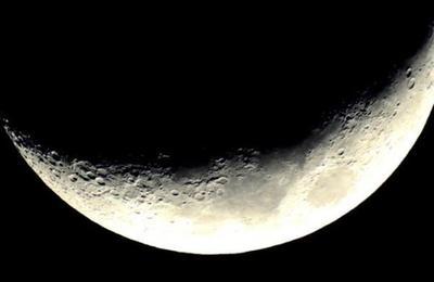 Así se vería la Luna si estuviera a la misma distancia que la Estación Espacial Internacional