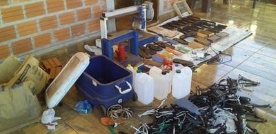 CDE: Desmantelan laboratorio donde elaboraban zapatillas rellenas de cocaína