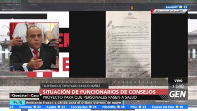 HOY / Diputado Basilio Núñez, sobre el proyecto para que personales del Consejo pasen a Salud Pública