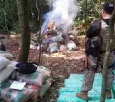 Agentes de la Senad destruyen importante campamento narco