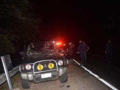 Violento accidente deja un herido en Ypacaraí