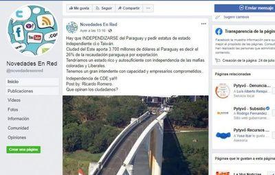 Seguidores de intendente Prieto piden que Ciudad del Este se independice de Paraguay