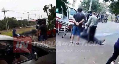DOS LESIONADOS TRAS ACCIDENTE EN MOTOCICLETA EN ARROYO PORÁ