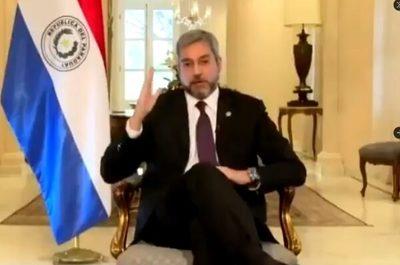 """""""Paraguay ha sido un ejemplo en el mundo"""", afirma Abdo Benìtez"""