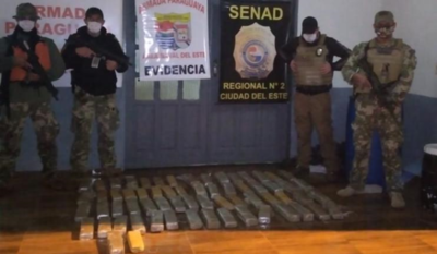 SENAD INCAUTÓ CARGA DE MARIHUANA DURANTE PATRULLA NOCTURNA EN RÍO PARANÁ