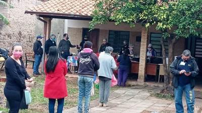 Bomberos de Luque realizaron un karu guasu en la Villa 9 de Marzo • Luque Noticias