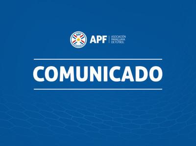 La APF agradece el apoyo de la CONMEBOL