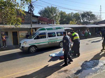 Sexagenaria fallece tras ser arrollada por bus, en San Lorenzo