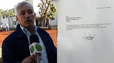 """HOY / Renuncia director de Infraestructura del IPS y cuestiona manejo de Gubetich: """"Acá se trajo a toda Conatel"""""""
