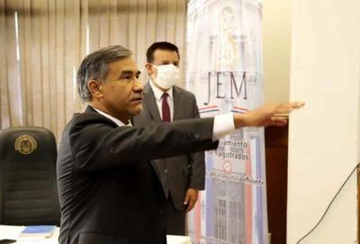 Ramírez Candia juró como miembro del JEM