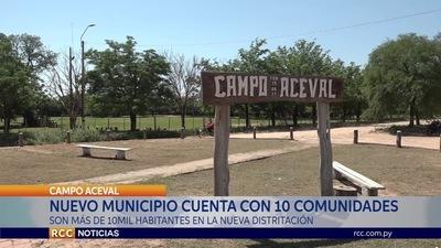 NUEVO MUNICIPIO DE CAMPO ACEVAL AGLUTINARÁ A 10 COMUNIDADES DE IRALA FERNÁNDEZ