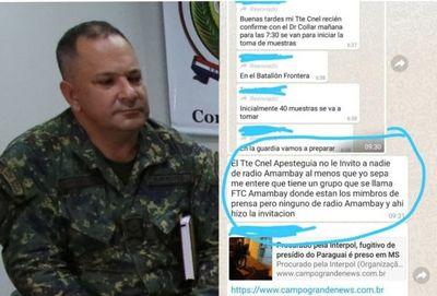 Covid-19: Vocero de la FTC, manipula informes a medios de prensa en Pedro Juan Caballero