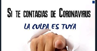 """""""Si te contagias de coronavirus, la culpa es tuya"""", dice el criticado mensaje de la Policía a la ciudadanía"""